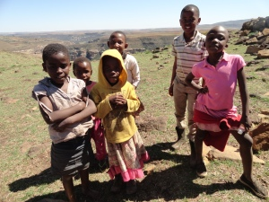 """I am a Mosotho girl"" or boy. They led me to the top of a mountain near the village."
